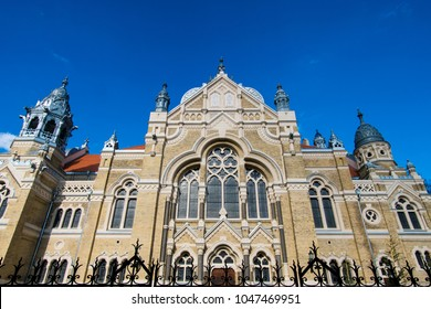 Exterior of jewish Szeged synagogue in Szeged city, Hungary, designed by Lipot Baumhorn