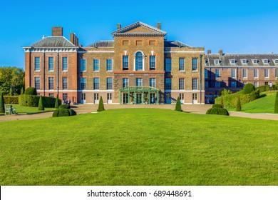 Exterior of Kensington Palace in Hyde Park, London