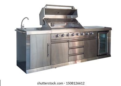 exterior kitchen. furniture on a white background