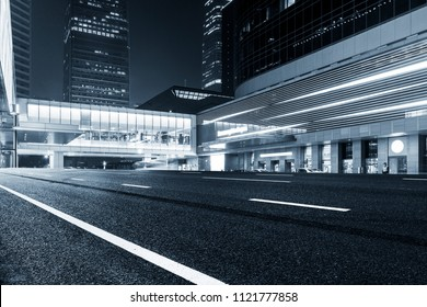 Exterior landscape of buildings -- cold hue - Shutterstock ID 1121777858