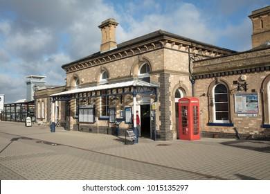 Exterior of Loughborough Station, Loughborough, Leicestershire, UK - 1st February 2018