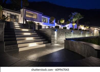 Exterior of luxurious modern villa