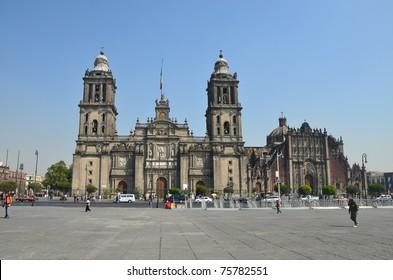 Exterior of Mexico City Metropolitan Cathedral