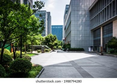 Fassade eines modernen Bürogebäudes