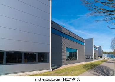 exterior of a modern warehouse in the netherlands