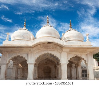 Exterior of Nagina Masjid in Agra Red Fort, India. It is also known as the Gem Mosque or the Jewel Mosque. The mosque was built between 1631 and 1640AD.