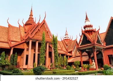 Exterior of the National Museum of Cambodia in Phnom Penh in Cambodia