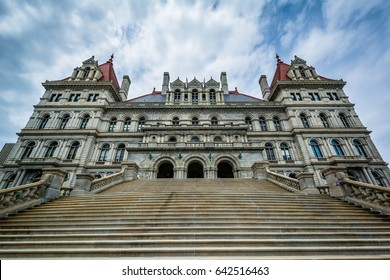 The exterior of the New York State Capitol in Albany, New York.