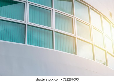 exterior office glass windows uv protection of modern business eco building with sun light