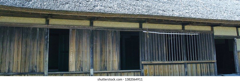 Exterior of old Japanese houses