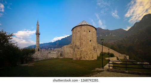 Exterior panorama view to Travnik Fortress in Bosnia and Herzegovina