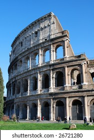Exterior Profile of the Roman Colosseum, Rome, Italy