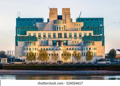 Exterior of Secret Intelligence Service (SIS, MI6) building in London