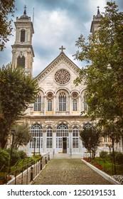 Exterior Shot Of Hagia Triada Greek Orthodox Church at Beyoglu, Istanbul, Turkey
