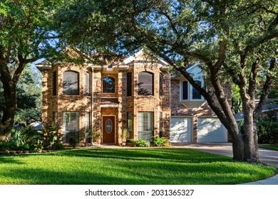 Exterior of a single family home in Texas, USA
