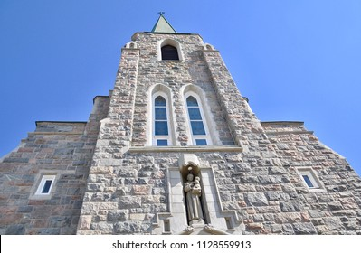 Exterior of St. Anthony of Padua Cathedral Parish inTimmins, Ontario, Canada