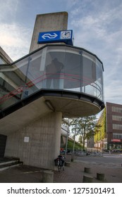 Exterior Of The Staircase At Almere Buiten City Train Station At The Netherlands 2018
