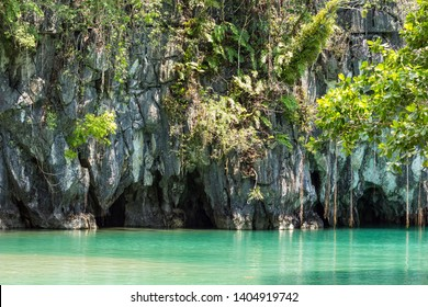 Exterior of the Underground River in Sabang in the Philippines