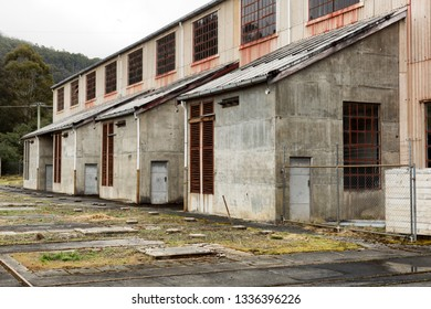 Exterior view of abandoned industrial building