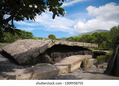 Exterior view to Admiral Yamamoto's Bunker , Rabaul, New Britain island, Papua New Guinea