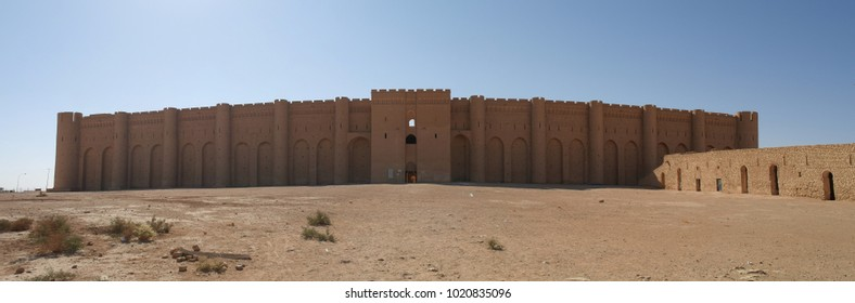 Exterior view to Al-Ukhaidir Fortress aka Abbasid palace of Ukhaider, Karbala, Iraq
