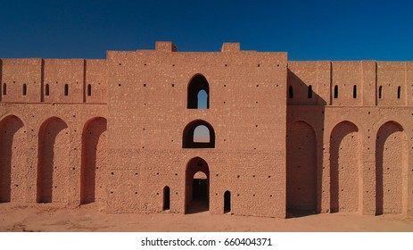 Exterior view to Al-Ukhaidir Fortress aka Abbasid palace of Ukhaider near Karbala, Iraq