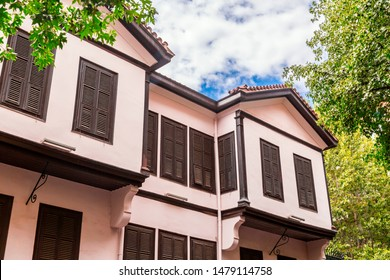 Exterior view of Ataturk Residence where Mustafa Kemal Ataturk, founder of Turkish Republic was born. His home is now a museum in Thessaloniki.