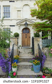 Exterior View of a Beautiful Old English Town House