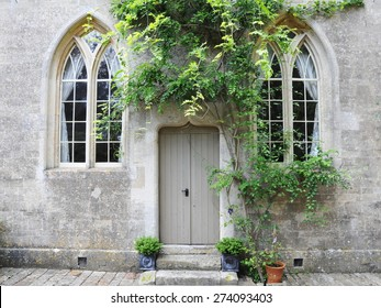 Exterior View of a Beautiful Old Stone House