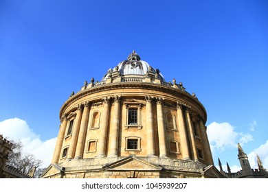 Exterior view of the Bodleian Library at the University of Oxford, England.