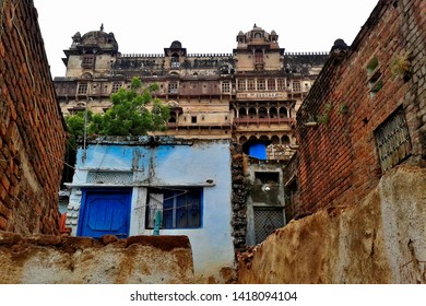 Exterior view of Datia Palace, Also known as Bir Singh Palace or Bir Singh Dev Palace, Datia, Madhya Pradesh, India