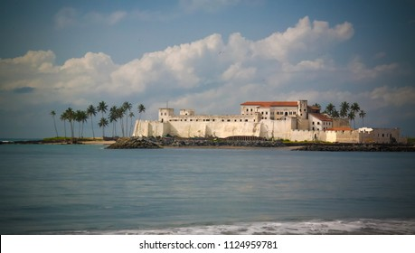 Exterior view to Elmina castle and fortress in Ghana