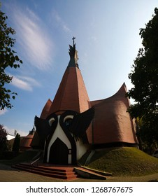 Exterior view to Evangelical Lutheran Church, Siofok, Hungary