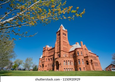 Exterior view of the famous Westminster Castle at Westminster, Colorado
