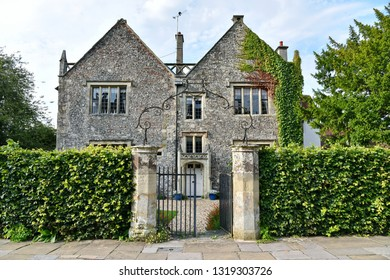 Exterior View and Gated Entrance of a Beautiful old English Country House