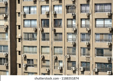 Exterior View of a High Rise Apartment Block