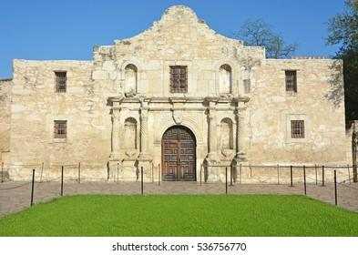 Exterior view of the historic Alamo