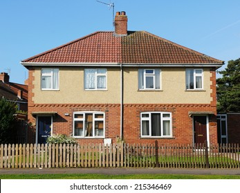 Exterior View of Houses on a Typical Inner City English Residential Estate - The Estate was Built Circa 1960 During a Boom in Social Housing