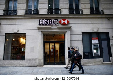 Exterior view of HSBC Bank Branch in Paris, France on Dec. 1, 2018