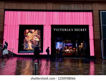 Exterior view of the newly opened Victoria secret underwear store in Glasgow Buchanan street, main shopping precinct in Glasgow city centre, Scotland UK. December  2018