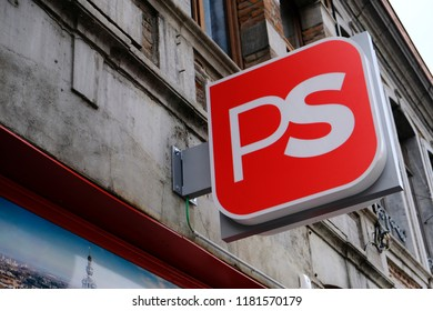 Exterior view of Offices of Socialist Party (Parti Socialiste) in Mons, Belgium on Sep. 16, 2018.