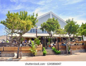 Exterior view of the Parada,  tapas restaurant  on the Victoria and Alfred waterfront.  Cape Town city, South Africa. Africa, December 2018