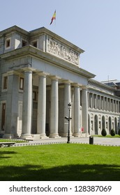 Exterior view of the Prado Museum. Madrid. Spain.