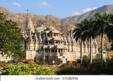 Exterior view of Ranakpur temple in India.