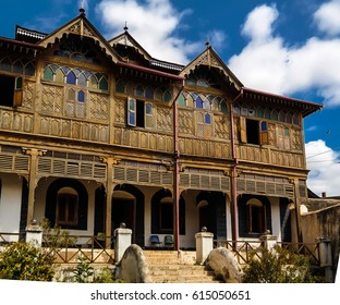 Exterior view to Rimbaud House and Museum in Harar, Jugol, Ethiopia