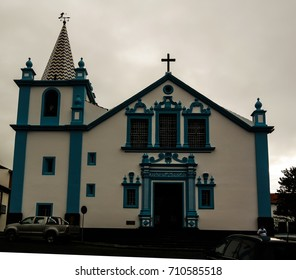 Exterior view to Sanctuary of Our Lady of Conception church at Angra do Heroismo, Terceira, Portugal