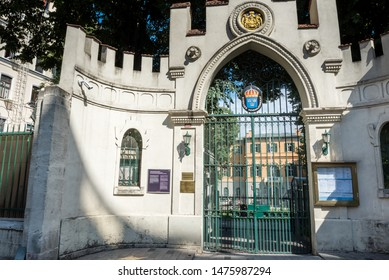 Exterior view of Swedish Embassy building which located in beyoglu,Istanbul,Turkey.25 July 2019