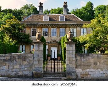 Exterior Wall and Entrance of a Beautiful Georgian Era English Manor