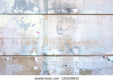 Exterior wall with graffiti traces