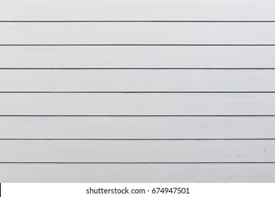 Exterior Wall of Horizontal White Slats